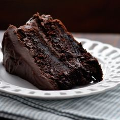 moist chocolate cake. repinned 299 times so far ;)