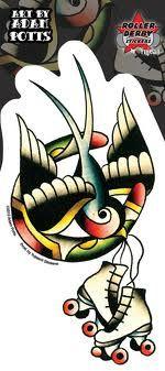 roller derby tattoos - Google Search