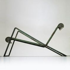 Jean Royère, Perforated Iron and Steel Chair from l'Exposition Internationale of 1937.