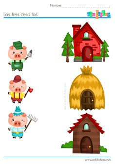 Creative Curriculum Preschool, Creative Activities For Kids, Preschool Crafts, Hand Crafts For Kids, Animal Crafts For Kids, Art For Kids, Cute Powerpoint Templates, Three Little Pigs Story, Fairy Tale Crafts
