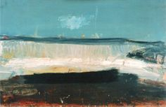 Penny Klein : Joan Eardley, and her waves Landscape Artwork, Abstract Landscape Painting, Seascape Paintings, Contemporary Landscape, Abstract Geometric Art, Glasgow School Of Art, Art Folder, Beginner Painting, Les Oeuvres