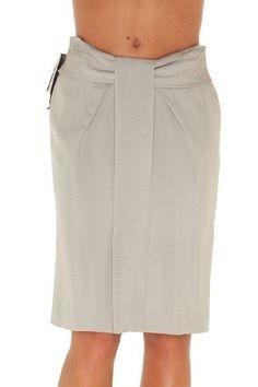 Giorgio Armani BEIGE Silk Knee Length Skirt, 36, Beige Giorgio Armani. $185.25