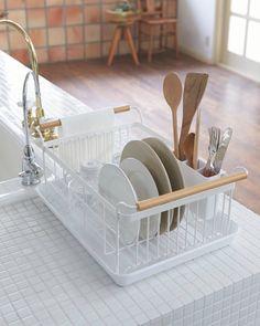 Shop Yamazaki Tosca Dish Drainer Rack at Urban Outfitters today. Diy Kitchen, Kitchen Design, Kitchen Decor, Small Kitchen Sink, Funny Kitchen, Kitchen Items, Kitchen Stuff, Kitchen Organization, Kitchen Storage