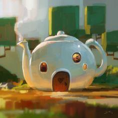 Tea House by GorosArt.deviantart.com on @DeviantArt