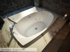 The new Esthesia 6638 drop-in bathtub by @BainUltra is to die for! Learn more about this tub here : http://www.bainultra.com/therapeutic-baths/our-collections/esthesia/esthesia-6638