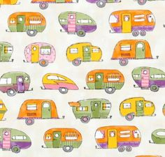 who doesn\'t love retro RV printed fabric?
