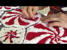 Crochet this amazing festive Peppermint Throw. It is stunning and a brand new design for 2014. The color possibilities of mixing for the spirals are endless....