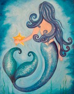 Mermaid Artwork, Mermaid Room, Mermaid Drawings, Art Drawings, Mermaid Paintings, Mermaid Sketch, Mermaid Tattoos, Mermaid Images, Mermaid Crafts