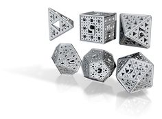 fractal dice, $66 on shapeways.com (don't know if they're plastic or metal or what, though)