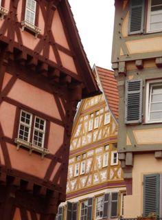 Fachwerkhäuser, Esslingen - Foto: S. Hopp