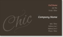 """This is a business card, but I liked the word """"Chic"""" on it, and place some loose diamonds on it. Business Thank You Cards, Company Names, Like Me, Diamonds, Chic, Words, Business Names, Shabby Chic, Elegant"""