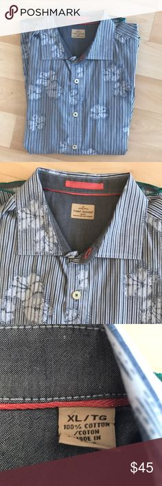 New Tommy Bahama shirt New blue/white Tommy Bahama cotton shirt Tommy Bahama Shirts Casual Button Down Shirts