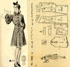 1940s () Dress  Wiener Frauenzeitung Nr 5 No 585