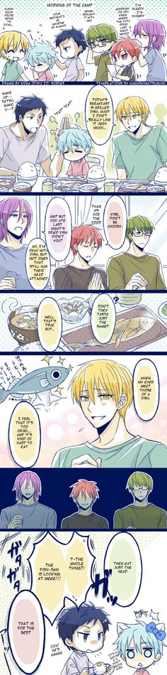 Ahh~ Kise's so cute (and Kuroko). -w- ...I love Akashi's smile at that there end!! XD