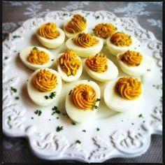 Lekker hapje: gevulde eieren   Made by Ellen