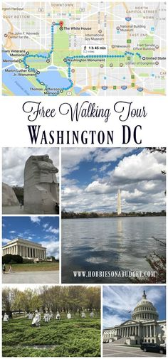 Free Walking Tour Washington DC Monuments, This tour covers approximate 5 miles of walking and will take you past the Smithsonian Monuments, the Washington Monument, Lincoln Memorial and other war memorials. You will also walk past the White House! Viaje A Washington Dc, Washington Dc Vacation, Visit Washington Dc, East Coast Travel, East Coast Road Trip, Places To Travel, Places To See, Travel Destinations, Shopping In New York