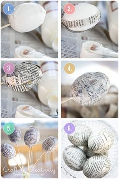 DIY Newspaper Eggs - Craft & Creativity