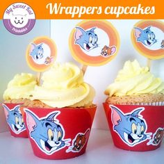 tom et jerry - Cupcakes wrappers