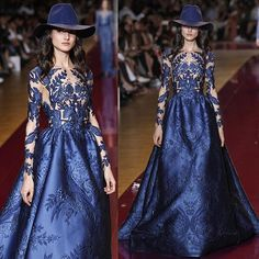 #zuhairmurad's fairytale queen showed us a pronounced taste for a bohemian life yesterday on the runway with these broad brimmed felt hats