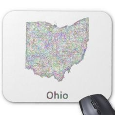 Ohio map mouse pad $12.10
