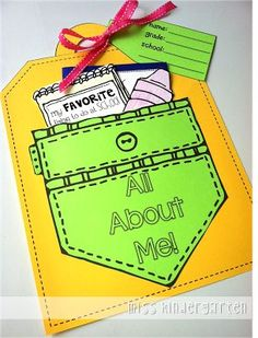 Great family activity!  All About Me Craft & a Giveaway! All About Me Crafts, All About Me Preschool, All About Me Activities, All About Me Project, 1st Day Of School, Beginning Of The School Year, School Fun, School Ideas, Back To School Crafts