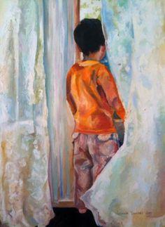 Original Painting Window To The World by Amanda Dunbar