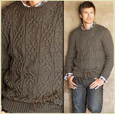 Пуловер с круглым вырезом (м) 290 Creations 10/11 Bergere de France №4670