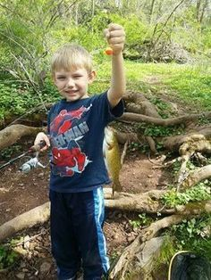 Riley Friday two years ago -- he went fishing with his Daddy and caught a trout of his very own!