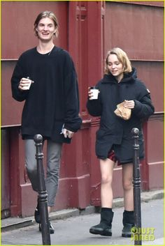 Lily-Rose Depp Grabs Coffee in Paris With Pal Walker Bunting