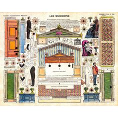 Vintage Model Toy Theatre - 60x MAIN ELEMENTS Image Sheets Vol.2 Download - C. & M.A. Smith