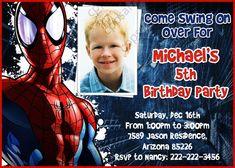 Spiderman Birthday Party Invitation - Digital File on Etsy, $7.50