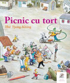 """""""Picnic cu tort"""" este o nouă poveste fără cuvinte semnată de Thé Tjong-Khing, unul dintre cei mai cunoscuți ilustratori pentru copii din Olanda. Copiii sunt încântați să descopere o mulțime de detalii amuzante și să urmărească atenți povestea, căci sunt multe mistere de dezlegat… Pre-school Books, Teaching Letters, Toddler Books, Children Books, Illustrations, Tarzan, Preschool, Snoopy, Concept"""