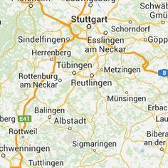 Landkarte Baden Württemberg Karte von Baden Württemberg mit Strassenverzeichnis und Satellitenperspektive
