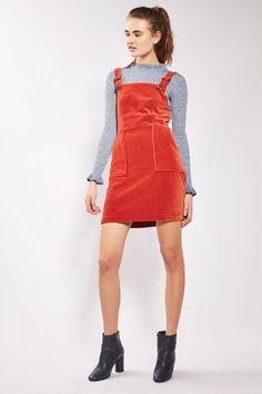 Cord Velvet Pinafore Dress - Dresses - Clothing - Topshop