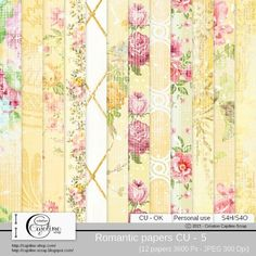 Romantic papers CU - 5 by Cajoline-Scrap