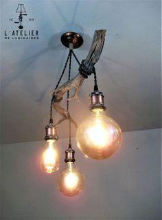 Suspended suspended light_Luminaire by AtelierDeLuminaires on Etsy