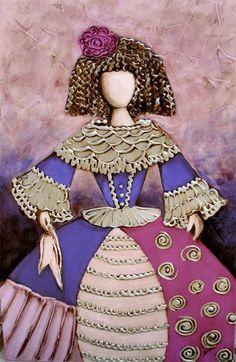 Resultado de imagen de meninas modernas para colorear Magenta, Art Deco Wall Art, Plum Art, Frida Art, Fashion Illustration Dresses, Korean Art, Tole Painting, Colorful Pictures, Illustrations