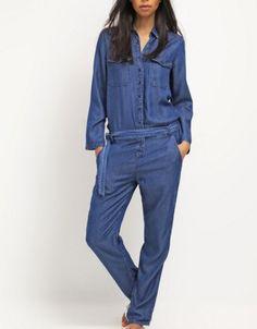 Pepe Jeans CAMEO Kombinezon jeansowy denim