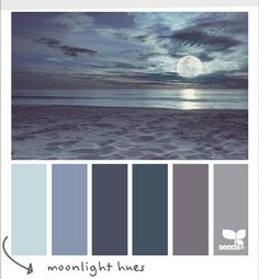 Lune Nuance de bleu