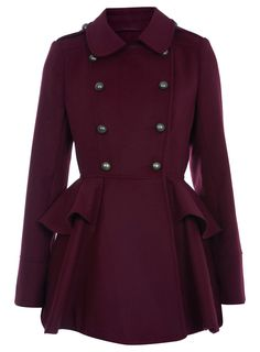 Berry Full Skirted Coat Miss Selfridge