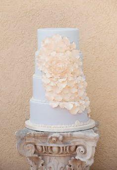 Wedding Cake - Photo shoot for Engaged Magazine by Strawberry Milk Events #gold #lavender #orange