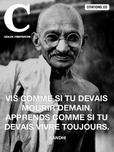Gandhi, Quote Citation, Artist Quotes, Greater Good, French Quotes, Sweet Words, Proverbs, Sentences, Slogan