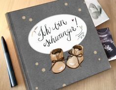 """Diary for the pregnancy """"I am pregnant"""" / pregnancy diary with cut … - Diy Gifts 2019 Trends Best Baby Shower Gifts, Baby Gifts, Pregnancy Diary, Ultrasound Pictures, Diy Gifts For Friends, Baby Belly, Baby Milestones, Precious Moments, Baby Love"""