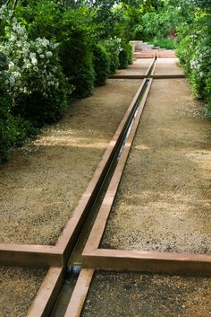 Pathway with rill in the Jardin de La Noria, France by Arnaud Maurières and Éric Ossart. Visit the slowottawa.ca boards:  http://www.pinterest.com/slowottawa/