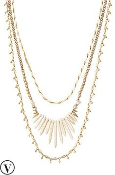 This beautiful vintage necklace can be worn alone or with chains. Make a bold statement with a laid back vibe with this layering necklace from Stella & Dot.
