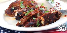 It certainly doesn't need to be the 4th of July to whip up these amazing (Whole30!) Firecracker BBQ ribs! #HomeFrontFitness #Whole30 #bbqribs