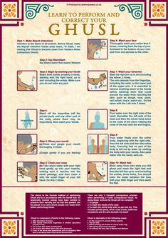 How to perform Ghusl