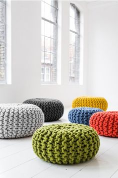 Check out the Urchin Pouf - Christien Meindertsma in Furniture, Low Stools & Ottomans from Couleur Locale for Music Crafts, Diy Crafts, Knitting Patterns, Crochet Patterns, Ideas Hogar, Textile Fiber Art, Futuristic Furniture, Craft Gifts, Decorative Items
