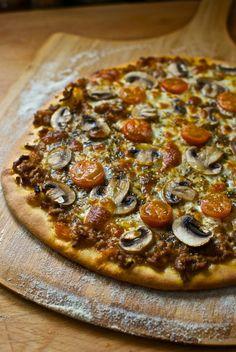 Receta de 'Pizza a la boloñesa' de Pepekitchen para el blog 'A tu Gusto' de superSol. La mejor gastronomía :)