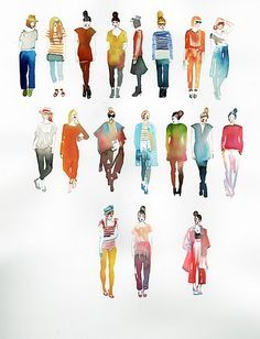 watercolor figures, my teachers have always said if you can paint the human form. - watercolor figures, my teachers have always said if you can paint the human form, you can paint anything. Source by ismilealotpins - Illustration Mode, Watercolor Illustration, Watercolor Fashion, Watercolor And Ink, Simple Watercolor, Watercolor Pencils, Abstract Watercolor, Painting People, Drawing People
